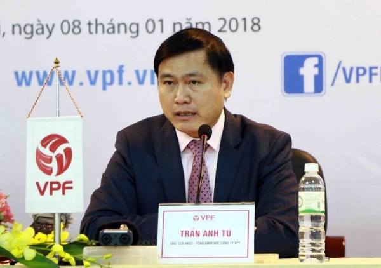 Ông Trần Anh Tú cho biết VPF sẵn sàng hầu tòa vì tranh cãi chuyện bản quyền truyền hình với đối tác. Ảnh: VPF