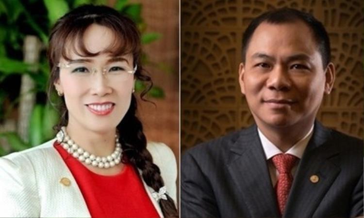 Bà Nguyễn Thị Phương Thảo và ông Phạm Nhật Vượng.