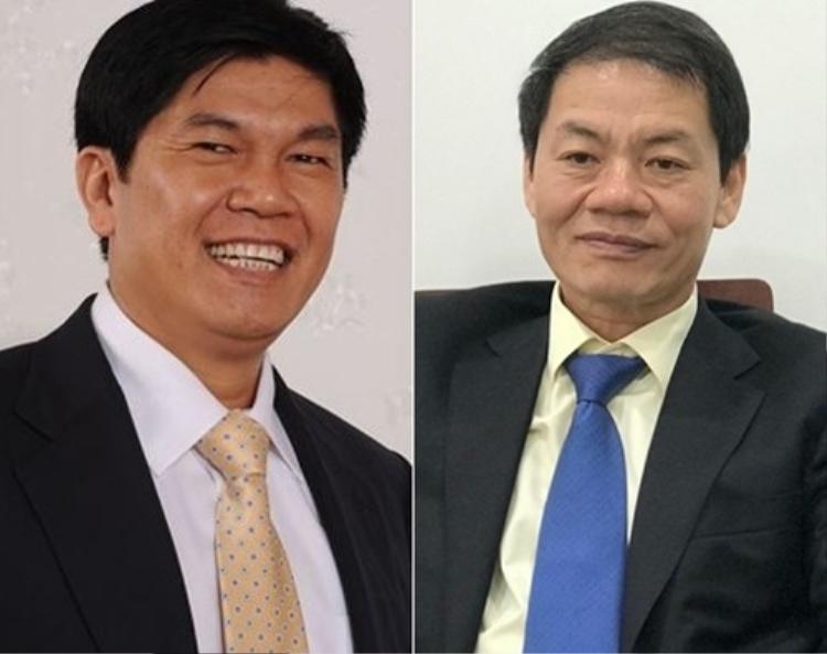 Ông Trần Đình Long (trái) và ông Trần Bá Dương (phải).