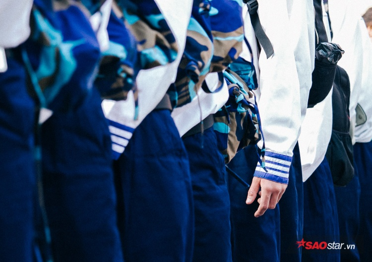 Nhiều chiến sĩ sẽ gia nhập ra Lữ đoàn Hải quân 957 thuộc tỉnh Khánh Hòa trong buổi tân binh hôm nay.
