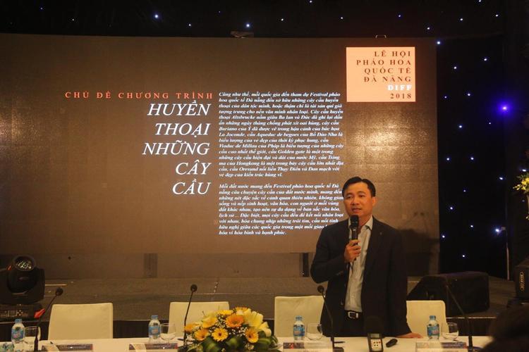 Đạo diễn Đỗ Thanh Hải tại lễ công bố chính thức Lễ hội pháo hoa Quốc tế Đà Nẵng 2018.