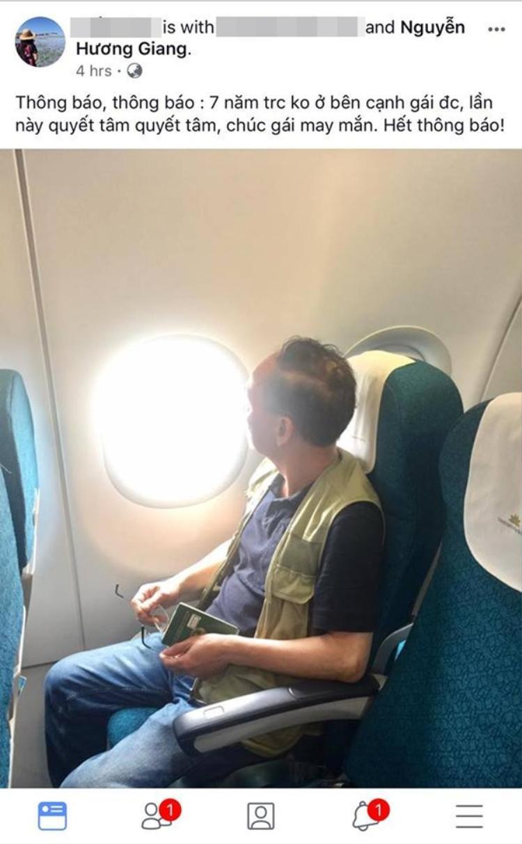 Hình ảnh bố mẹ bay sang Thái Lan được Hương giang chia sẻ trên trang cá nhân.