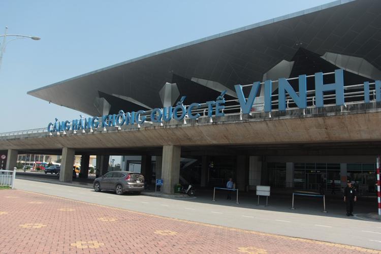 Sân bay Vinh nơi xảy ra sự việc.
