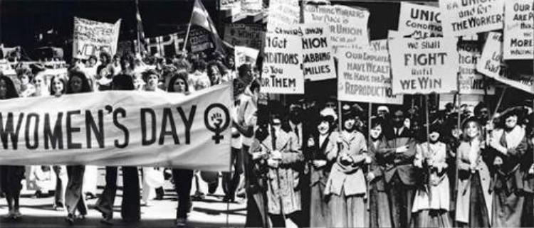 Cuộc diễu hành biểu tình của công nhân dệt.
