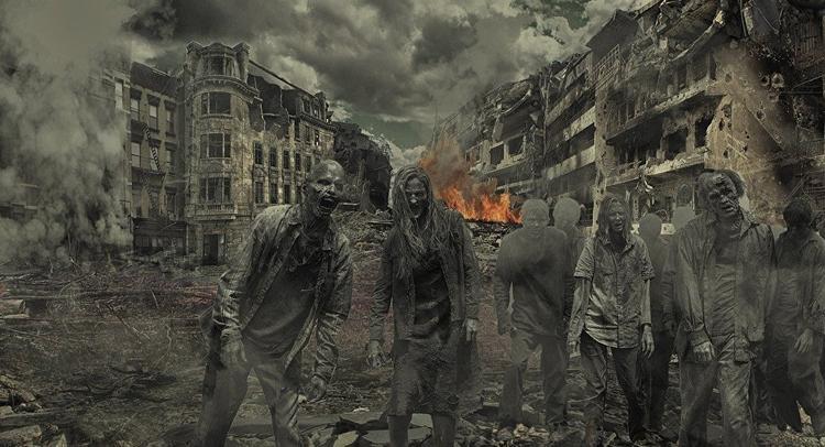 Cuộc đối đầu giữa thường dân và xác sống được cho dẫn tới việc con người bị diệt vong. Ảnh minh họa
