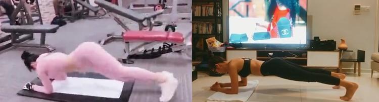 Cùng thực hiện động tác plank nhưng dễ thấy sự khác biệt giữa động tác để làm đẹp và động tác dễ gặp chấn thương cột sống.