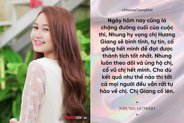 Cùng tham gia chương trình Sao nhập ngũ, Nhung Gumiho và Hương Giang trở nên thân thiết. Trước giờ G, người đẹp mong giọng ca Ngay dưới hiên nhà hãy thật bình tĩnh, tự tin để đạt được kết quả tốt nhất.