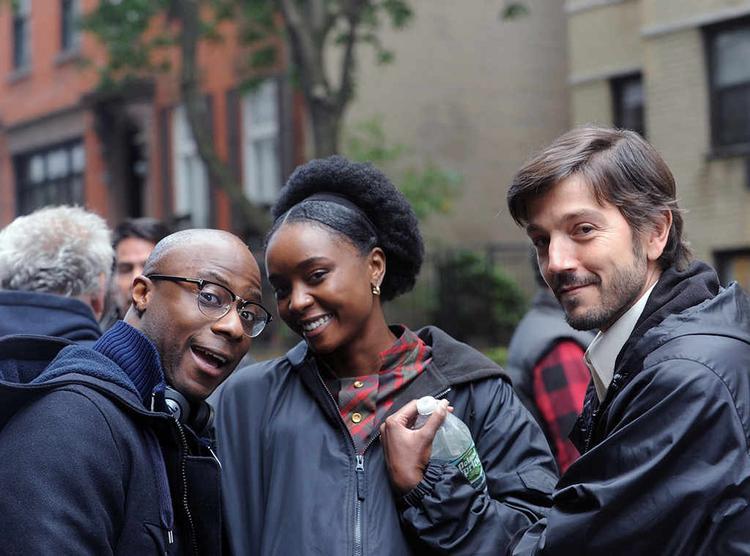 Từ trái sang: Đạo diễn Barry Jenkins, nữ chính Kiki Layne và nam diễn viên vào vai Pedrocito Diego Luna.