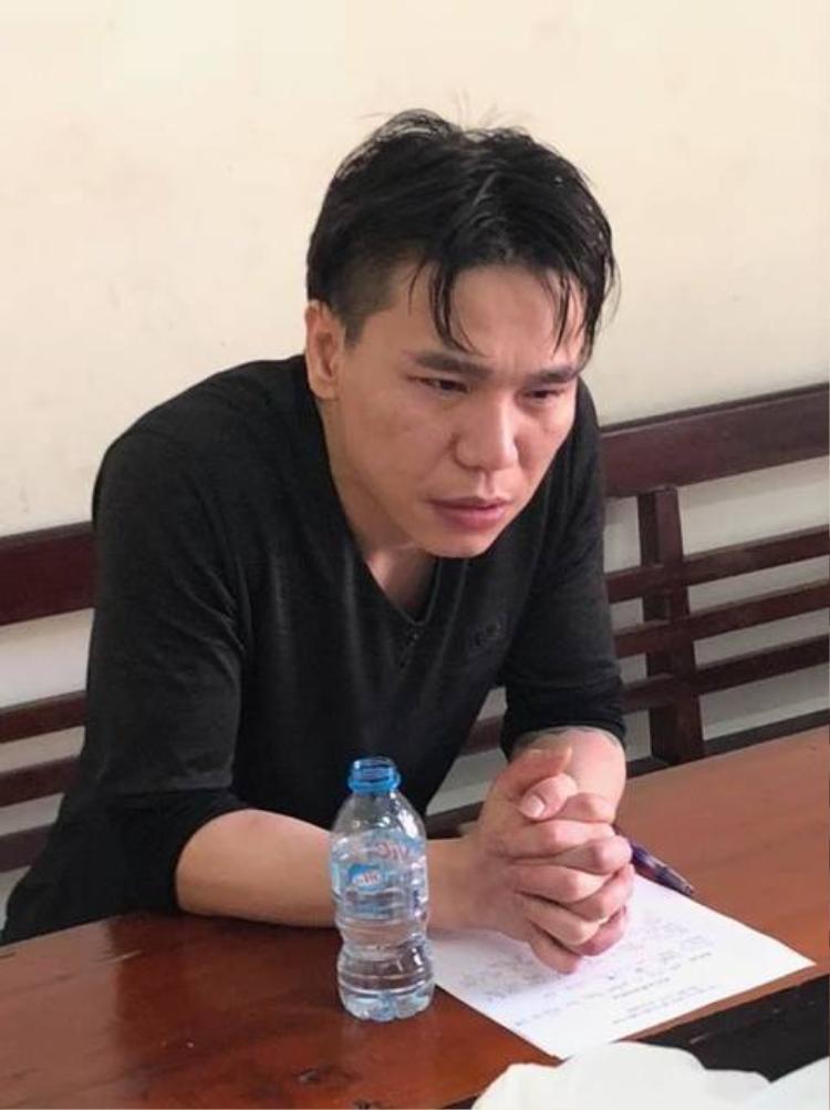 Hình ảnh Châu Việt Cường tại cơ quan công an trước đó.
