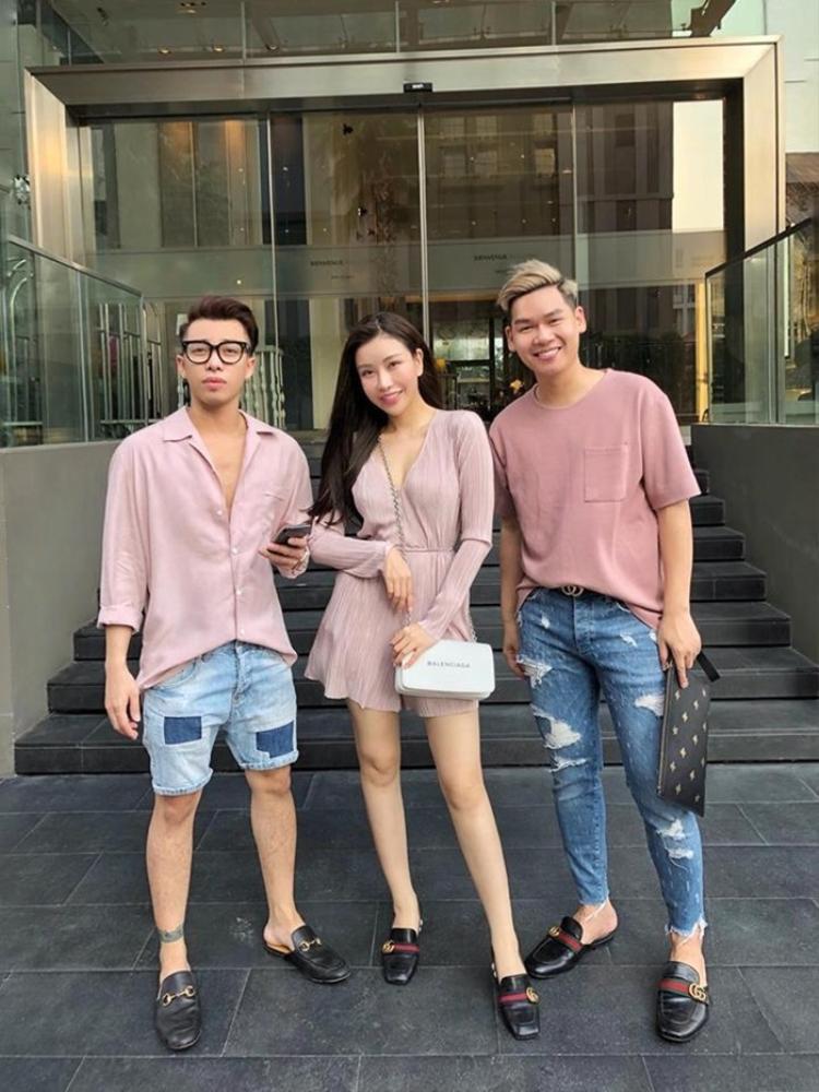 Hoàng Ku và hoa hậu Lam Cúc.