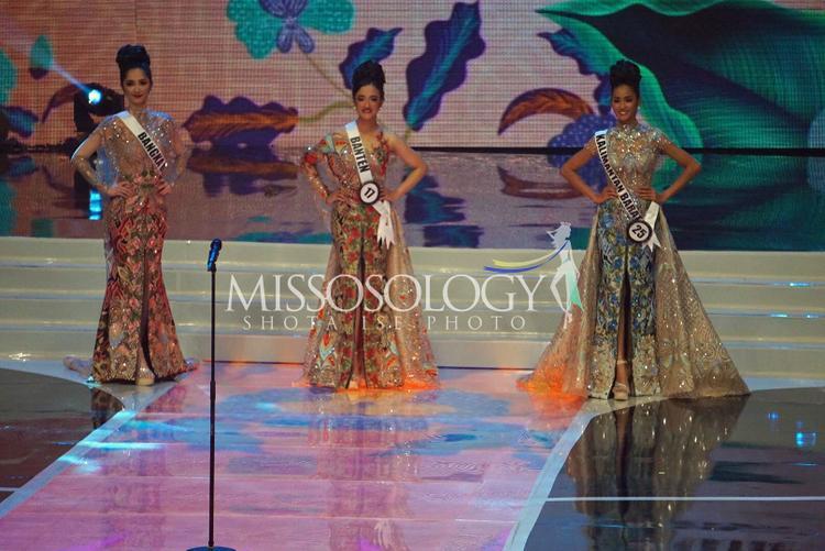 Top 3 trong phần trả lời ứng xử.Những năm gần đây, các người đẹp Indonesia đạt thành tích khá cao tại đấu trường quốc tế.