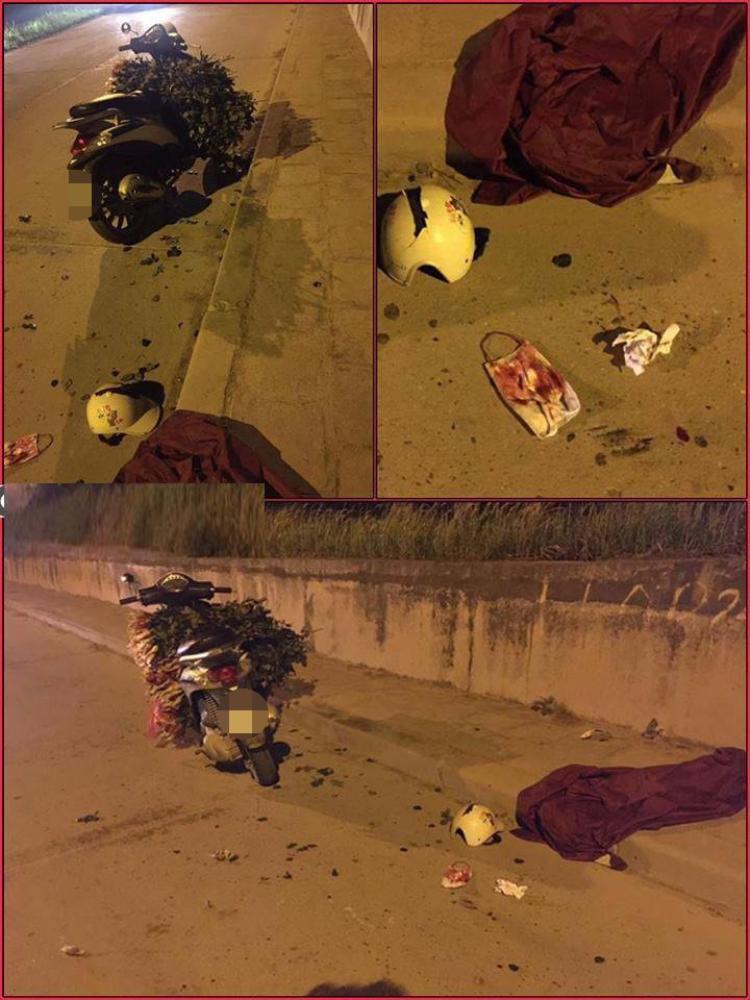 Hiện trường nơi cô gái bị nhóm đối tượng chém bị thương, định cướp xe máy.