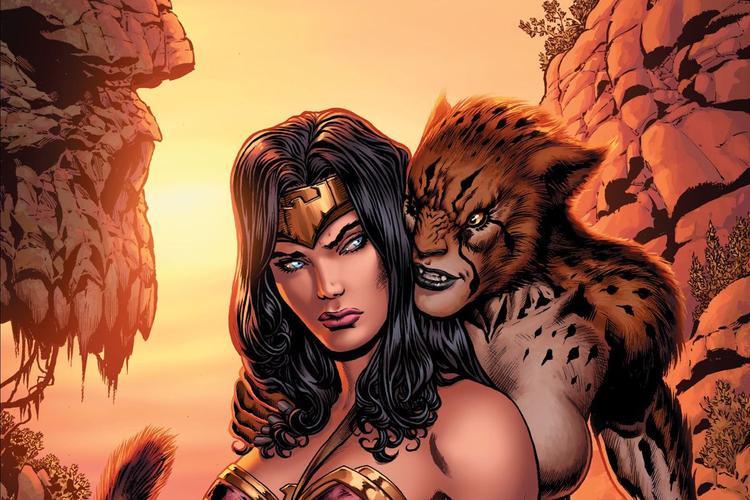 Nhân vật Cheetah cùng Wonder Woman trong truyện tranh.
