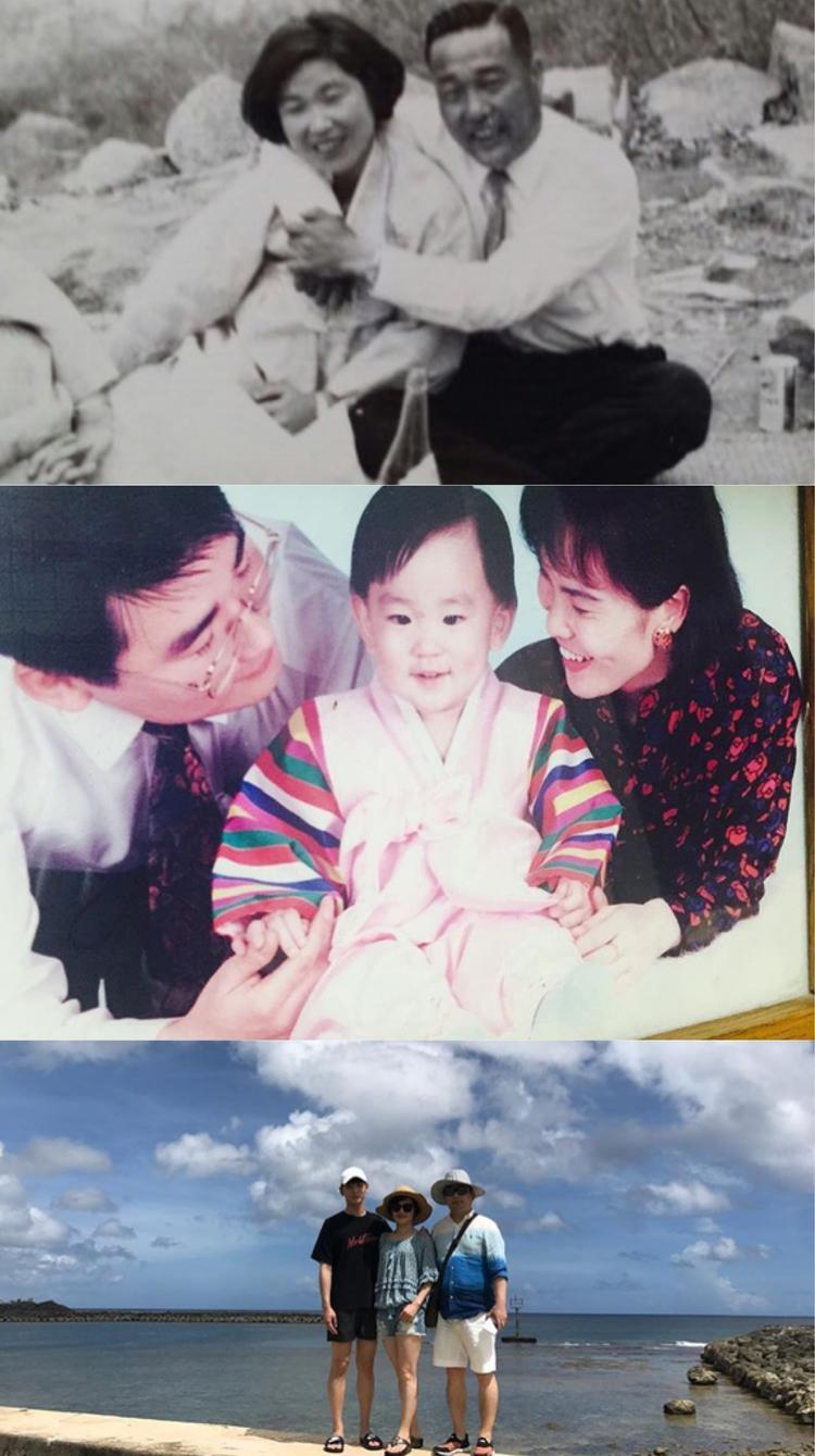 Những tấm hình chụp cùng bố mẹ của KEY (Shinee).