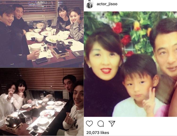 """Diễn viên Những gã tồi 2 - Ji Soo thỉnh thoảng cũng """"khoe"""" ảnh gia đình."""