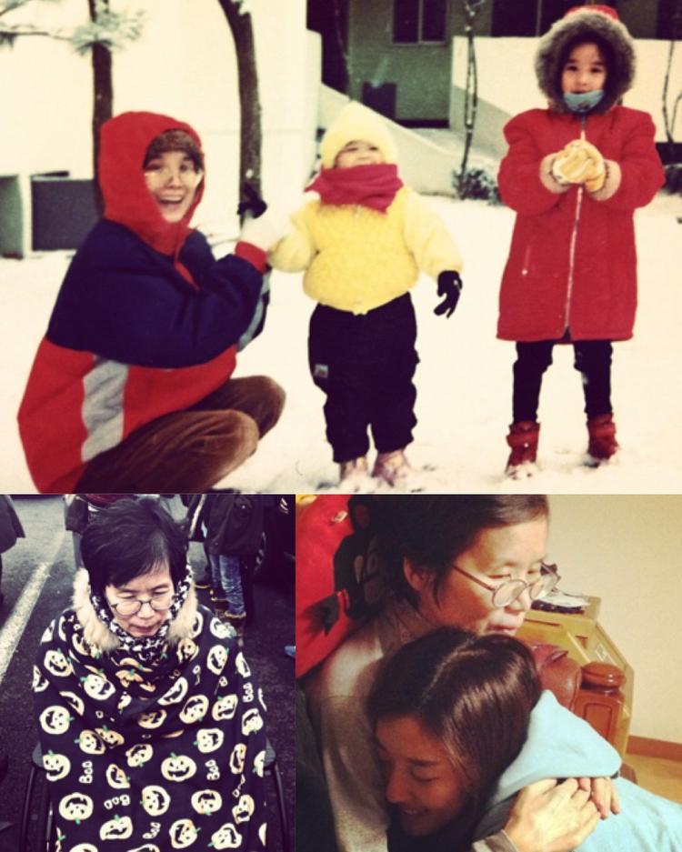 Nữ diễn viên 34 tuổi - Lee Jung Ah chia sẻ hình ảnh người mẹ quá cố của cô.