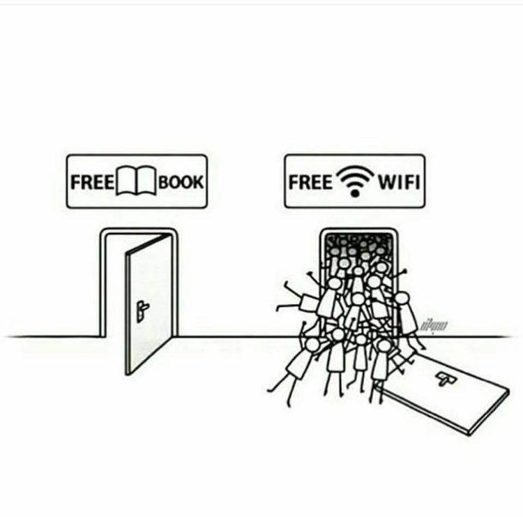 Mạng xã hội luôn luôn hấp dẫn con người hơn những cuốn sách.