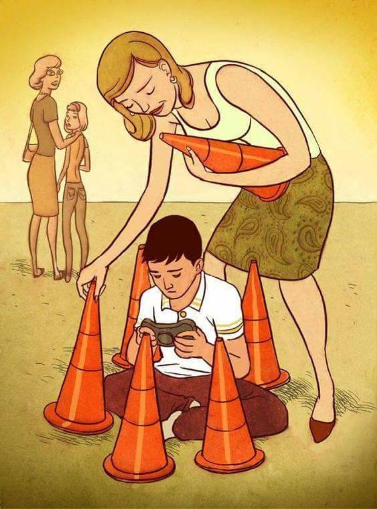 Cha mẹ quá bận bịu với công việc, vì thế, thay vì dành nhiều thời gian cho con cái thì họ sẽ dùng những thiết bị công nghệ để dỗ dành con nhỏ. Chính điều này đã vô tình khiến con trẻ bị cách ly với thế giới bên ngoài.