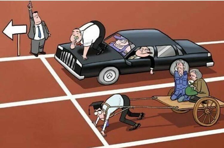 Đây là hình ảnh thể hiện bạn sẽ phải nhận thua ngay từ khi xuất phát nếu như bạn yếu hơn hẳn.