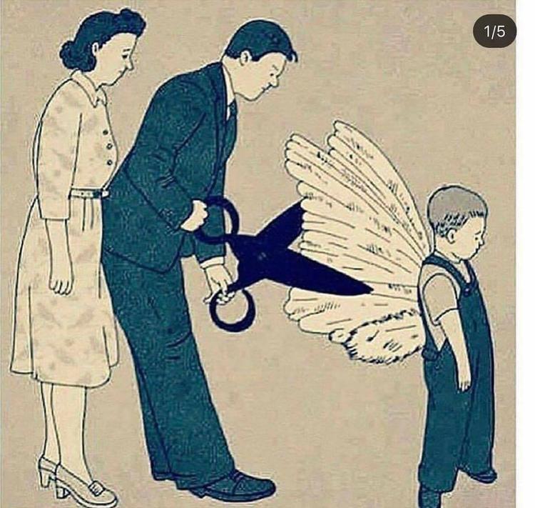 Cha mẹ đừng cắt đi ước mơ của con, hãy chấp cánh cho con, để con có thể bay xa bay cao vơi những điều con ước. Đừng cố gắng sắp đặt, ép buộc con cái làm theo ý mình.