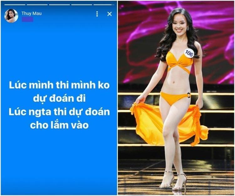 """Mâu Thuỷ lên tiếng """"vỗ mặt"""" Hoàng Hải Thu khi dự đoán Hương Giang không lọt top 3 Miss International Queen 2018."""