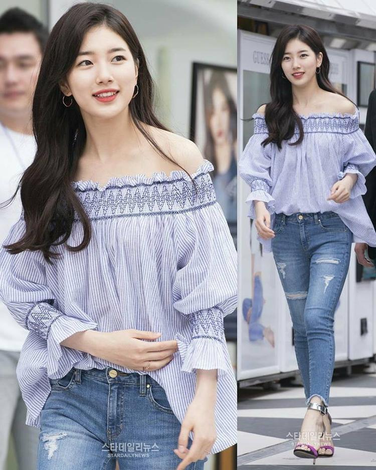Thời trang đời thường của Suzy cũng giản dị đến không ngờ. Cô mặc như hầu hết các cô gái bình thường khác, chỉ có điều, nhan sắc của Suzy thật nổi trội.