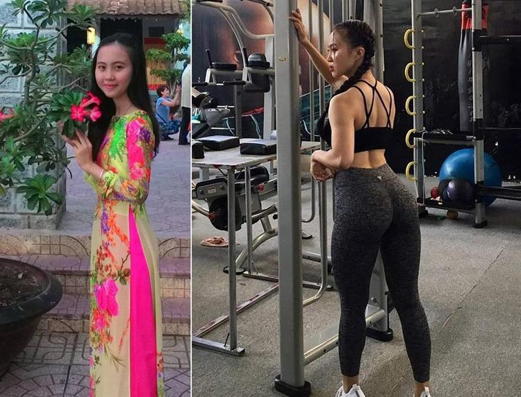 Từ một cô gái nghèo có 3 vòng lép xẹp, thiếu nữ này đã lột xác để trở thành hot girl phòng gym