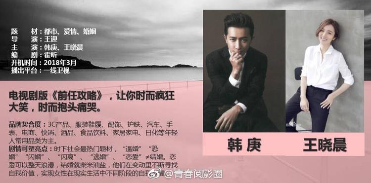 Thông tin chính thức đã được công bố, Dự án Yêu em, anh dám không sẽ do Hàn Canh và Vương Hiểu Thần đóng chính
