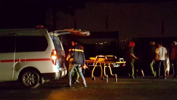 Hiện trường vụ cháy khiến 5 người tử vong.