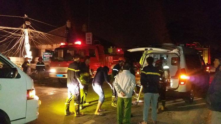 Hiện trường vụ cháy khiến 5 người chết.