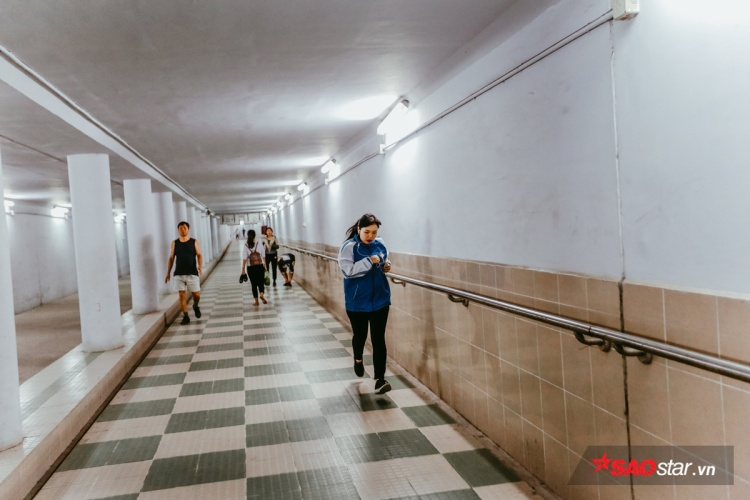 Đường hầm trở thành nơi chạy bộ.