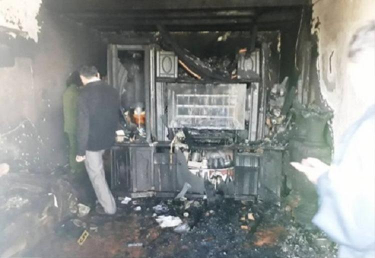 Hiện trường vụ cháy thương tâm.