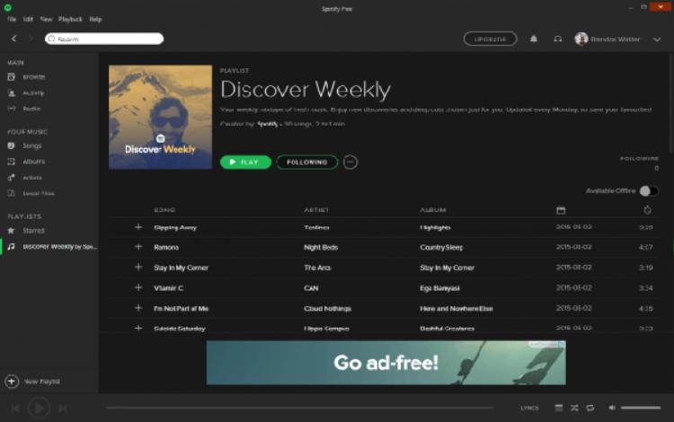 Discover Weekly, một tính năng gợi ý nhạc trên Spotify được đánh giá cao.