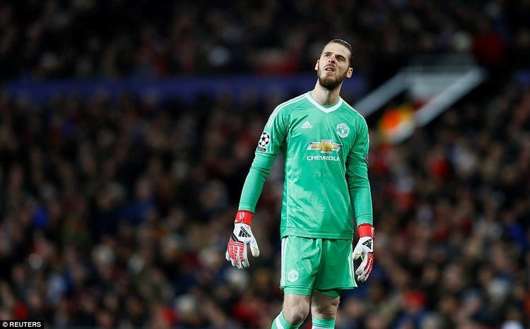 Nỗi thất vọng của David De Gea. Thủ thành người Tây Ban Nha có trận đấu tốt với nhiều tình huống cứu thua cho đội nhà.
