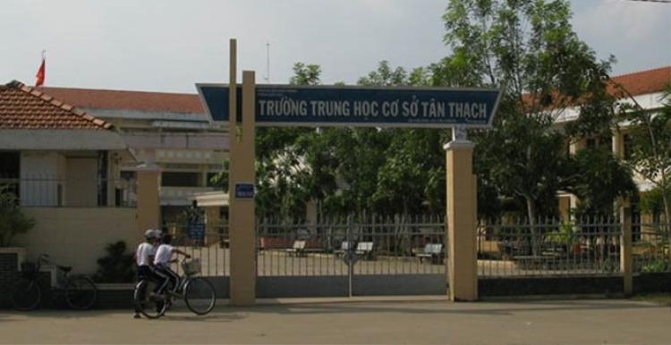 Trường THCS Tân Thạch. Ảnh: Xuân Thắng.