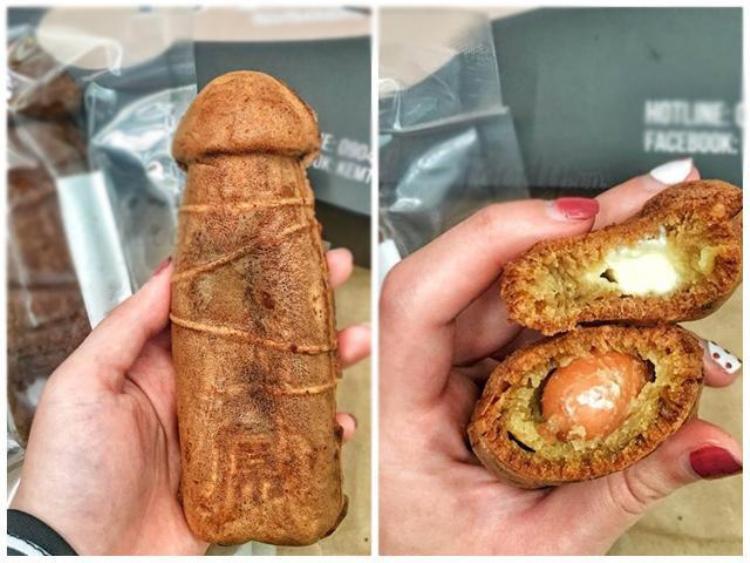 Chiếc bánh được bán với giá 90 nghìn đồng/2 cái.