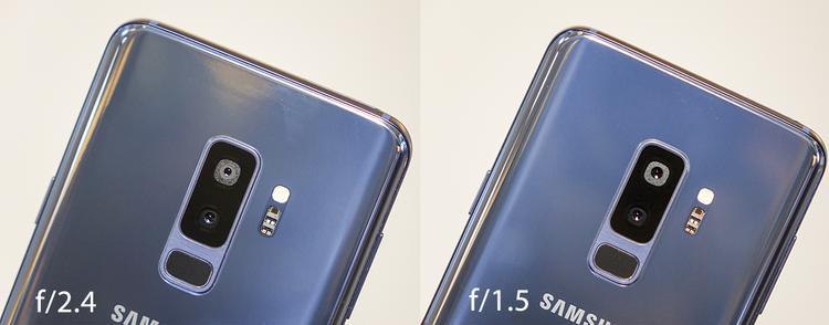 Galaxy S9/S9+ có khả năng thay đổi khẩu độ camera. Bên trái là khi khép khẩu thành f/2.4 và bên phải là khi mở khẩu tối đa f/1.5