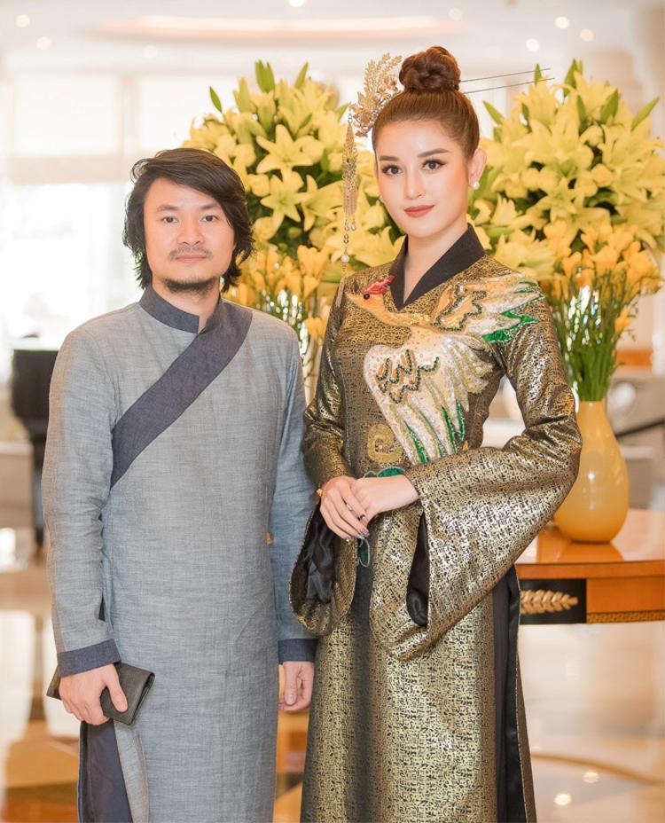 Á hậu Huyền My và Tổng đạo diễn của cuộc thi Hoa hậu Việt Nam 2018 Hoàng Nhật Nam.