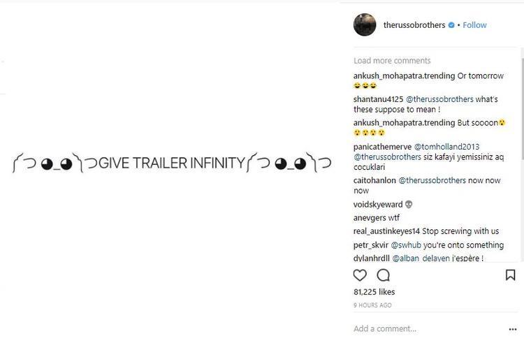 Instagram của bộ đôi anh em đạo diễn Russo.