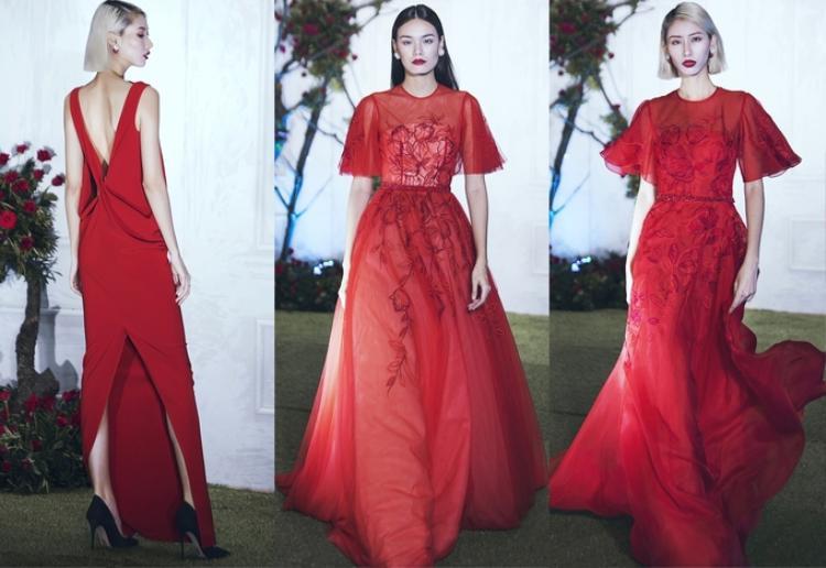 Sắc đỏ rực rỡ của đóa hoa anh túc (Poppy) đã tạo nguồn cảm hứng và được nhà thiết kế chọn lựa để thể hiện sinh động trong các mẫu váy cho mùa Xuân Hè 2018.