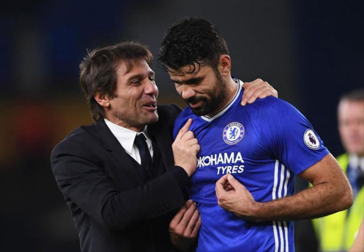 Conte và Costa khi còn sát cánh với nhau.