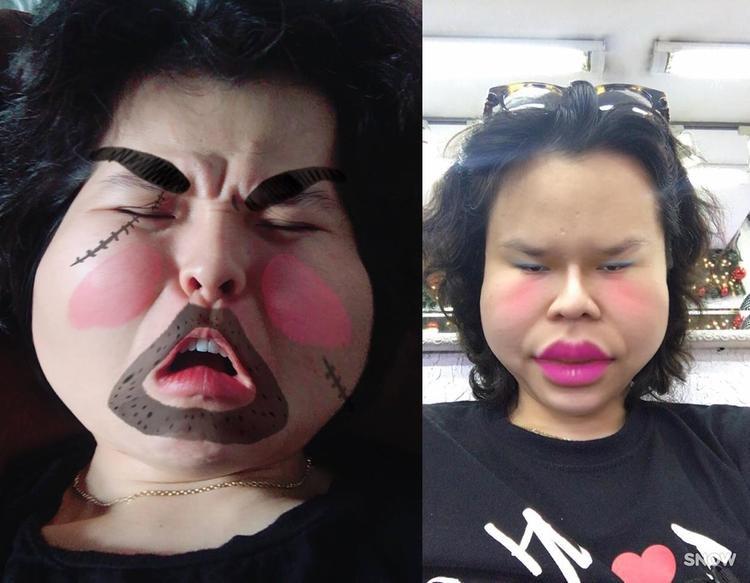 Nếu các sao nữ ưa chuộng filter chỉnh mặt đáng yêu thì Tiên Tiên hoàn toàn đối lập.