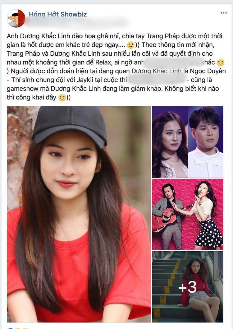 Nghi vấn Dương Khắc Linh hẹn hò cùng thí sinh trong chương trình anh làm giám khảo. (Nguồn: Hóng hớt Showbiz)