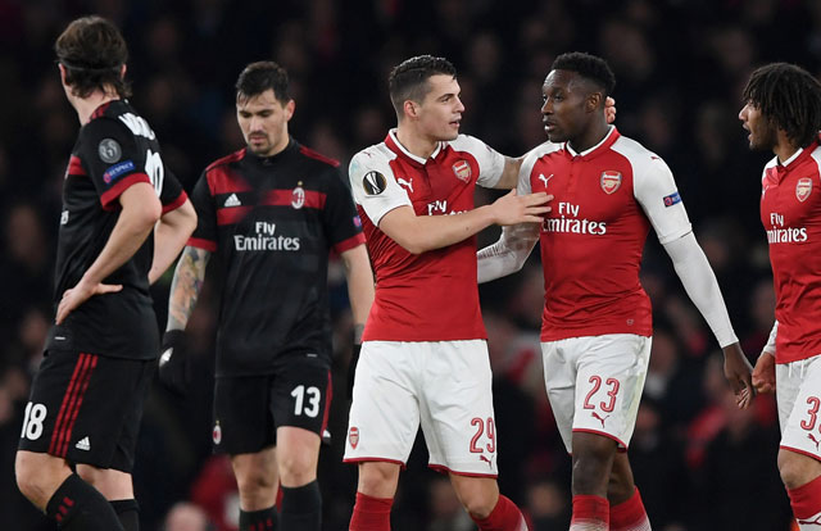 Arsenal ngược dòng hạ gục AC Milan.