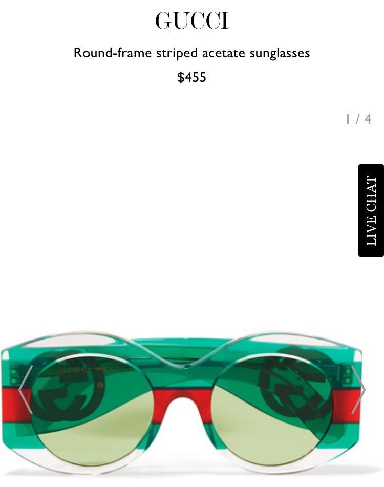 Chiếc kính Gucci sành điệu này có giá hơn 10 triệu đồng.