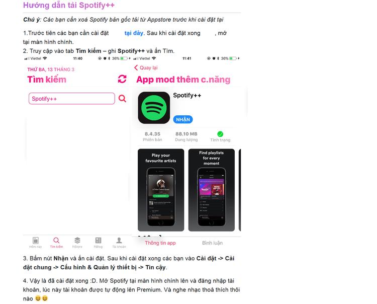 Hướng dẫn tải Spotify Premium mà không cần trả phí.