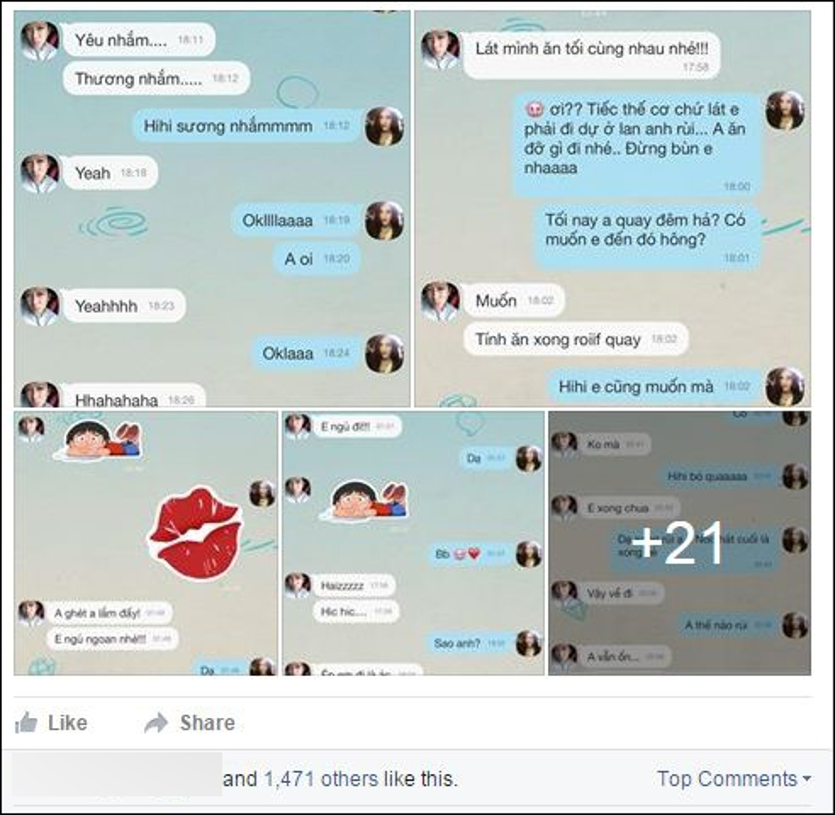 Những dòng tin nhắn của Trường Giang được Quế Vân tiết lộ.