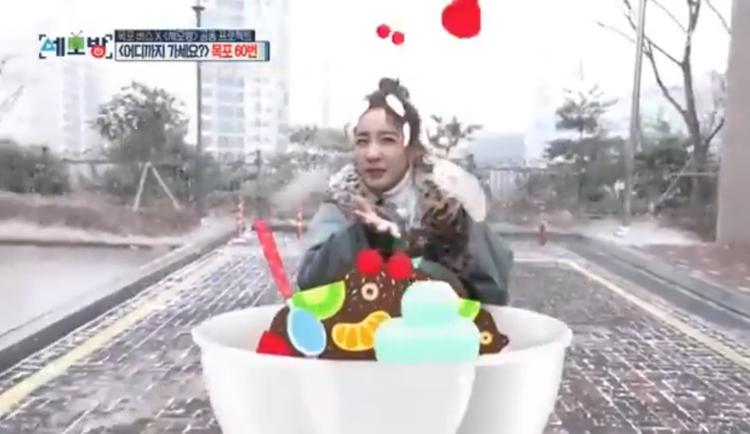 Dara xuất hiện trong chương trình của đài MBC.