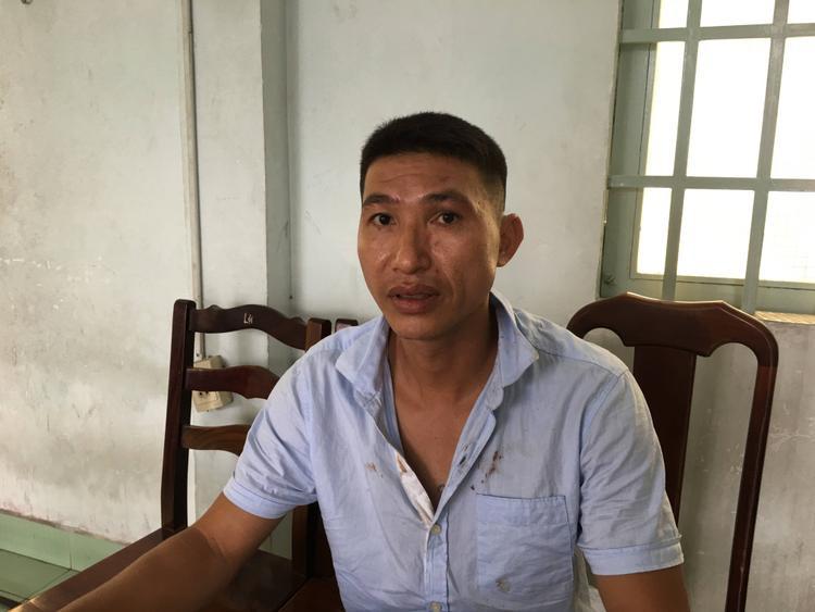 Đối tượng Nguyễn Quang Minh tại cơ quan công an.