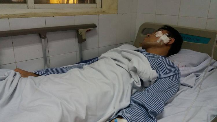 Anh Nguyễn Ngọc Sơn đã bớt choáng váng, đau đầu hơn.